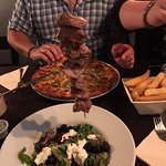 Lamb Kebab with Greek salad