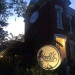 The front of Monell's at dusk!