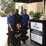 Valet always ready to lend a hand....