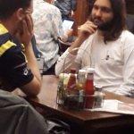 Jesus resting his Hot rod