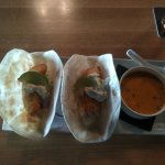 Fish tacos and Thai soup