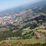 la vista desde la zona oeste del monte Naranco