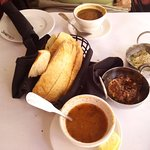 Lentil Soup, Ezme, Babaghanoush