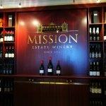 Mission estate wine tasting bar