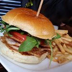 Peameal Bacon Sandwich and Fries