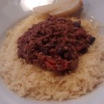 Home-made Chilli Con Carne with rice