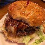 Texas sized burger fills plate