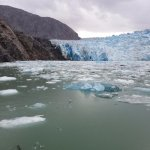 Blue ice in Sawyer Glacier