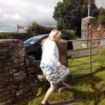 Parking by the roadside, and going over the stile