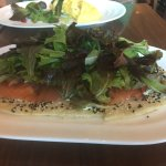 salmon flatbread for brunch