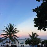 Lovely sunset at Nacional Beach Club