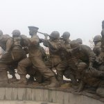 Korean Soldiers Beginning of Statue