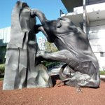 The World Turns bronze elephant and kuril by Michael Parekowhai GoMA