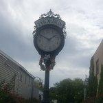 clock across the street