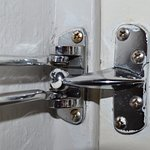 Exterior door safety latch broken.  Come on in!