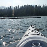 Kayaking near the fish hatchery early in the morning