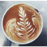 Barista Made Latte made with locally grown and roasted coffee