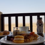 HIgh tea with a view over the desert