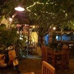 Vespa in the Garden Bar.
