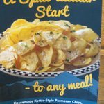 Home made parmesan kettle chips