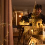 My reflection on window while taking photo of Fisherman's Bastion from my room window at night.