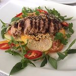 Smoked duck breast with salad