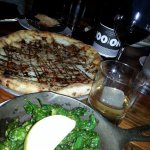 Fried poblano peppers, fig and gorgonzola pizza and eggplant parm!