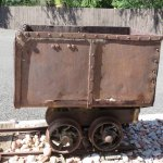 Antique mining cart on the grounds