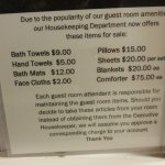 Linen purchase policy