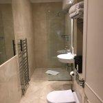 Bedroom and bathroom. The Bathroom is a similar size (width ways) as the bedroom and the bedroom