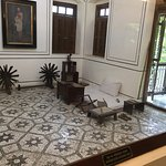 The room where Gandhi would work, sleep and meet people.