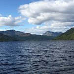 Looking NW right up the middle of Loch Lomond