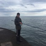 Micheal Smart Mackerel fishing at the end of Dysart Pier