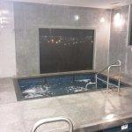 The heated spa