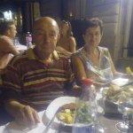 Cena con mia moglie alla sala ristorante