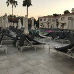 The main Elgancia pool as sun was setting... kept so clean and tidy by the friendly pool man