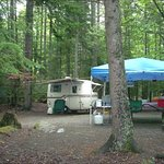 Our Campsite at Lily Bay State Park