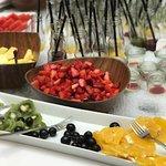 Fruit on the breakfast buffet