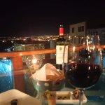 Vista nocturna desde el restaurant