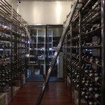 Chilled walk in glass cellar