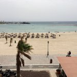 Caleta beach, taken from the balcony of our sea view junior suite at Geranios Suites.