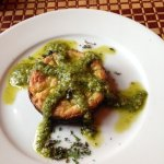 Savory cheesecake with pesto,