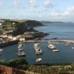 View of Mevagissey from the Honeycombe House 'Stevenson' loo window!