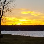Nicolet Bay at sunset.