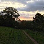 Sunset at Glastonbury Tor