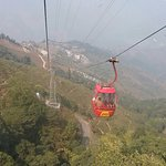 The cable car at the Ropeway in Darjeeling