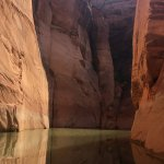 The color of the water changes as you go through the canyon.