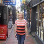My wife Maureen in one of the lanes