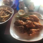 Wings were good, too bad about the service.