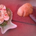 Appetizers: Fresh bread & butter AND Lobster Deviled Eggs